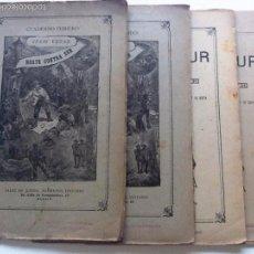 Libros antiguos: NORTE CONTRA SUR. JULIO VERNE. 4 CUADERNOS.(OBRA COMPLETA). SAENZ DE JUBERA. ILUSTRADA CON GRABADOS. Lote 205713778