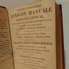 Libros antiguos: ANTIGUO LIBRO, LEXICON MANUALE GRECO-LATINUM 1820.BUENISIMA CONSERVACION. Lote 57415520
