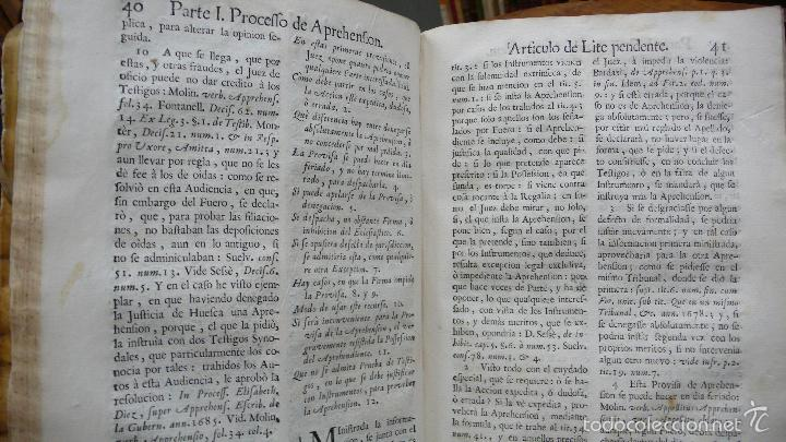 Libros antiguos: ILUSTRACION A LOS QUATRO PROCESSOS FORALES DE ARAGON. JUAN ANTONIO LA RIPA. 1764. - Foto 5 - 57437856