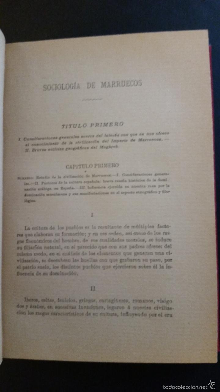 Libros antiguos: 1909 - FALGUERAS Y OZAETA - ESTUDIOS SOBRE SOCIOLOGÍA Y DERECHO DE MARRUECOS - Foto 3 - 57448394