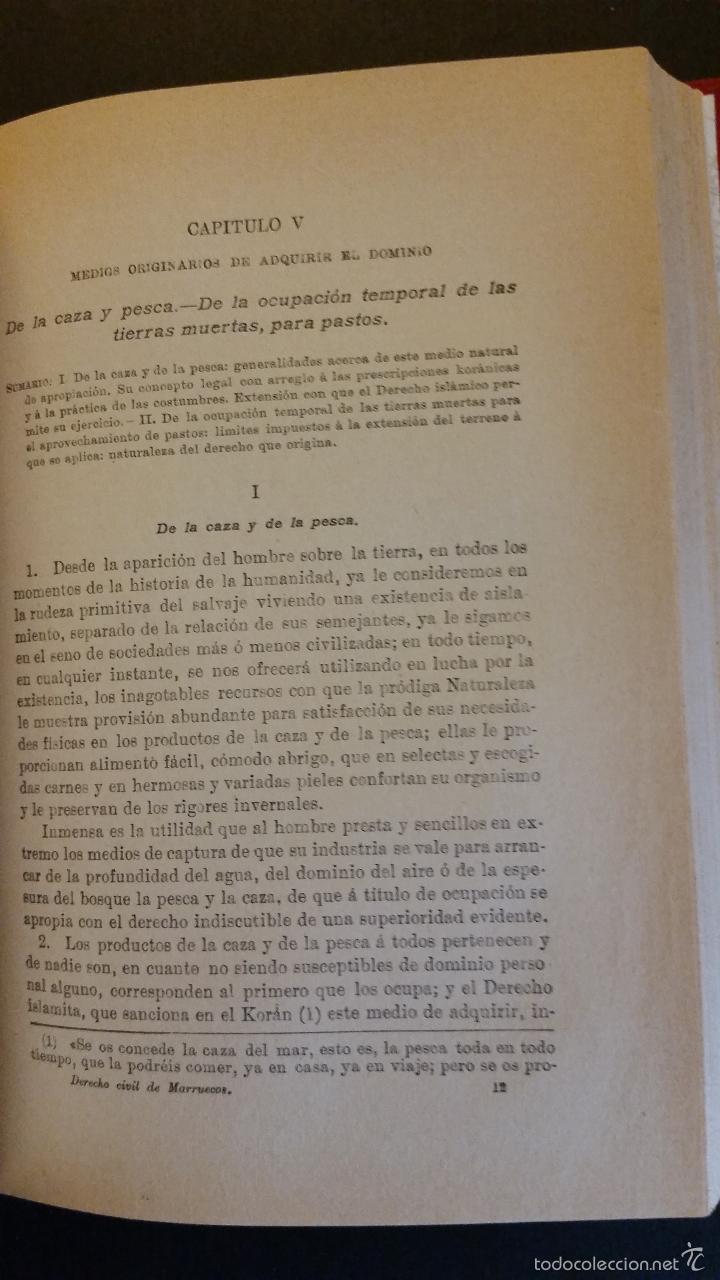 Libros antiguos: 1909 - FALGUERAS Y OZAETA - ESTUDIOS SOBRE SOCIOLOGÍA Y DERECHO DE MARRUECOS - Foto 4 - 57448394