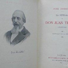 Libros antiguos: . LA LEYENDA DE DON JUAN TENORIO. ZORRILLA, JOSÉ. MONTANER Y SIMON, 1895.. Lote 57449925