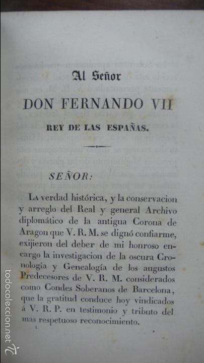 Libros antiguos: . LOS CONDES DE BARCELONA VINDICADOS… P. DE BOFARULL Y MASCARÓ. 2 VOL. 1836. - Foto 4 - 57486571