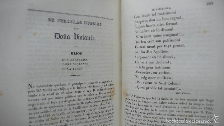 Libros antiguos: . LOS CONDES DE BARCELONA VINDICADOS… P. DE BOFARULL Y MASCARÓ. 2 VOL. 1836. - Foto 10 - 57486571