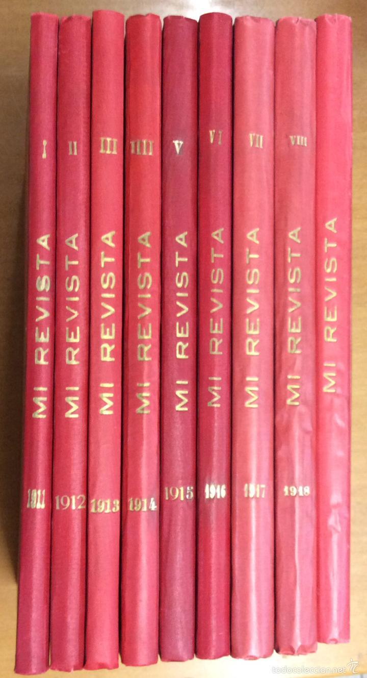 Libros antiguos: MI REVISTA. DEL AÑO 1911 al 1919. 9 AÑOS COMPLETOS. ENCUADERNACION ORIGINAL. - Foto 2 - 57489627