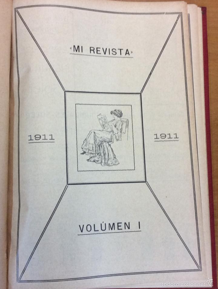 Libros antiguos: MI REVISTA. DEL AÑO 1911 al 1919. 9 AÑOS COMPLETOS. ENCUADERNACION ORIGINAL. - Foto 3 - 57489627