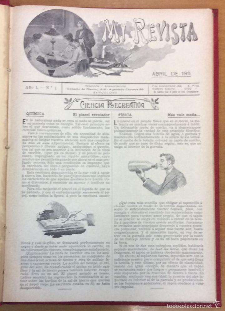 Libros antiguos: MI REVISTA. DEL AÑO 1911 al 1919. 9 AÑOS COMPLETOS. ENCUADERNACION ORIGINAL. - Foto 5 - 57489627