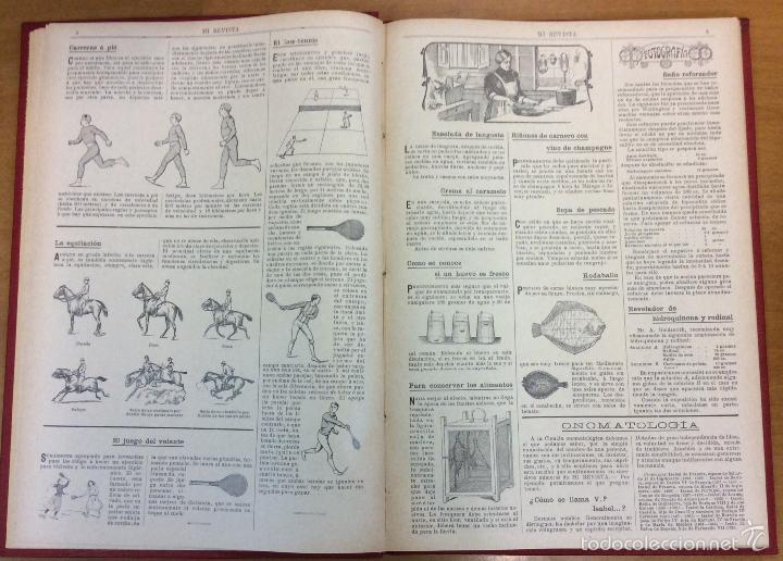 Libros antiguos: MI REVISTA. DEL AÑO 1911 al 1919. 9 AÑOS COMPLETOS. ENCUADERNACION ORIGINAL. - Foto 7 - 57489627