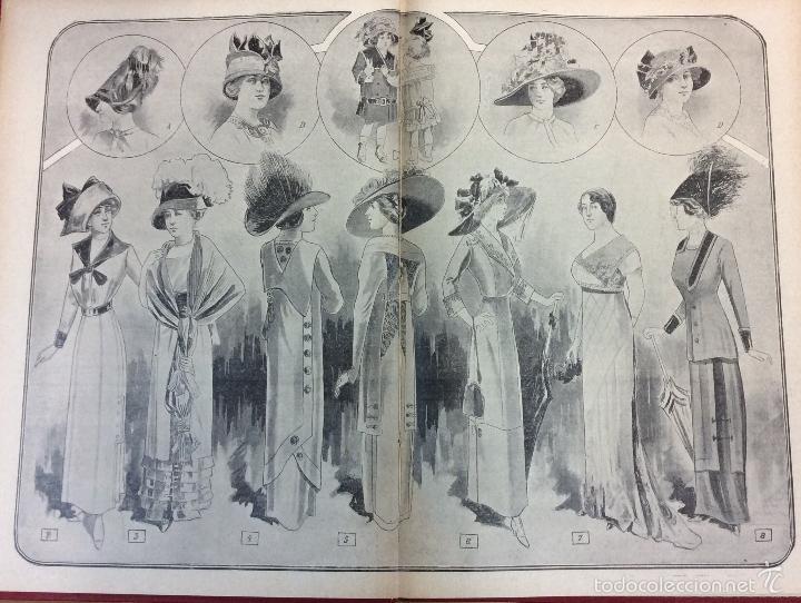 Libros antiguos: MI REVISTA. DEL AÑO 1911 al 1919. 9 AÑOS COMPLETOS. ENCUADERNACION ORIGINAL. - Foto 9 - 57489627