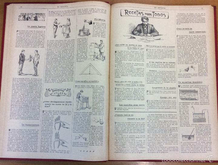 Libros antiguos: MI REVISTA. DEL AÑO 1911 al 1919. 9 AÑOS COMPLETOS. ENCUADERNACION ORIGINAL. - Foto 10 - 57489627