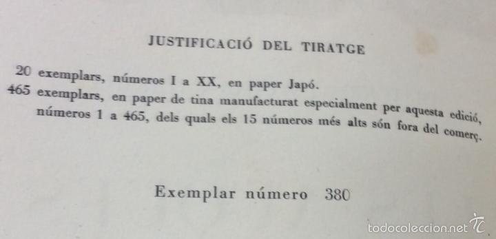 Libros antiguos: LES AUQUES. JOAN AMADES. 1931. 2 TOMOS. EDICIÓN NUMERADA. BIBLIOFILIA. - Foto 3 - 57490282