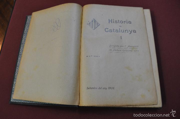 Libros antiguos: historia de catalunya - associació de lectura catalana - setembre 1906 - AHCB - Foto 2 - 57503267