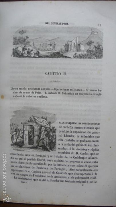 Libros antiguos: HISTORIA MILITAR Y POLÍTICA DEL GENERAL DON JUAN PRIM... FRANCISCO GIMENEZ Y GUITED. 2 VOLS. 1860. - Foto 4 - 57505637