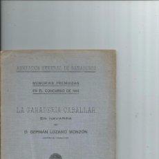 Libros antiguos: 1917 - CABALLOS - LA GANADERIA CABALLAR EN NAVARRA - GERMÁN LOZANO MONZON. Lote 57517024
