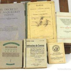 Libros antiguos: 7666 - LOTE DE 6 LIBROS DE TEXTO DE LEGISLACIÓN(VER DESCRIP). VV. AA. VARIAS EDIT. 1864-1947.. Lote 57525350