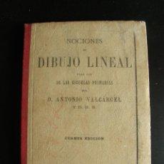 Libros antiguos: NOCIONES DE DIBUJO LINEAL. ANTONIO VALCÁRCEL. LIBRERIA DE LA VIUDA DE HERNANDO. 1887. Lote 57529052