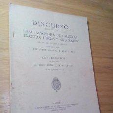 Libros antiguos: DISCURSO DEL EXCMO. SEÑOR D. RICARDO ARANAZ E IZAGUIRRE. Lote 57540825