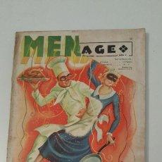 Libros antiguos: MENAGE 1935 (LIBRO COCINA). Lote 57542729