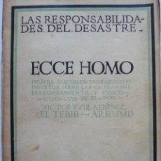 Libros antiguos: ECCE HOMO VICTOR RUIZ ALBENIZ EL TEBIB ARRUMI BIBLIOTECA NUEVA 1920 MARRUECOS. Lote 57579126