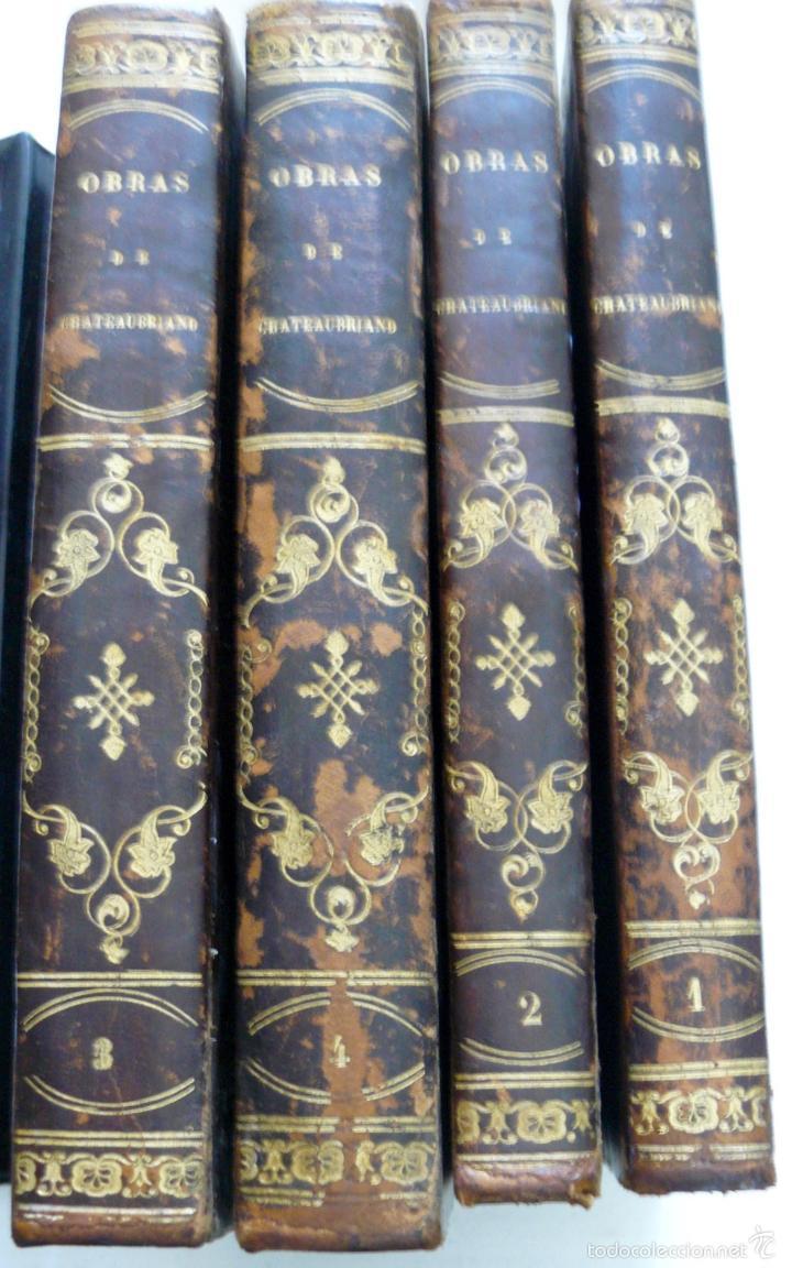 OBRAS DE CHATEAUBRIAND BIBLIOTECA DE GASPAR Y ROIG MADRID 1855 CUATRO TOMOS COMPLETAS (Libros antiguos (hasta 1936), raros y curiosos - Literatura - Narrativa - Otros)
