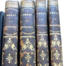 Libros antiguos: OBRAS DE CHATEAUBRIAND BIBLIOTECA DE GASPAR Y ROIG MADRID 1855 CUATRO TOMOS COMPLETAS. Lote 57588618