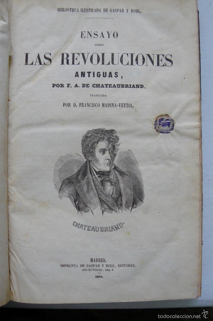 Libros antiguos: OBRAS DE CHATEAUBRIAND BIBLIOTECA DE GASPAR Y ROIG MADRID 1855 CUATRO TOMOS COMPLETAS - Foto 4 - 57588618