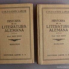 Libros antiguos: COLECCIÓN LABOR, Nº 119 Y 120, SEC. III. HISTORIA DE LA LITERATURA ITALIANA. MAX KOCH. DOS TOMOS.. Lote 57598993
