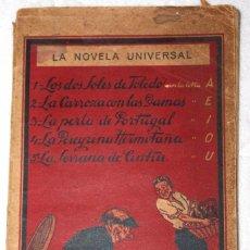Libros antiguos: CINCO NOVELAS RARAS. ESCRITAS SIN VOCALES. MUY CURIOSAS. NOVELA UNIVERSAL. AÑO III, Nº 23. BARCELONA. Lote 57610981