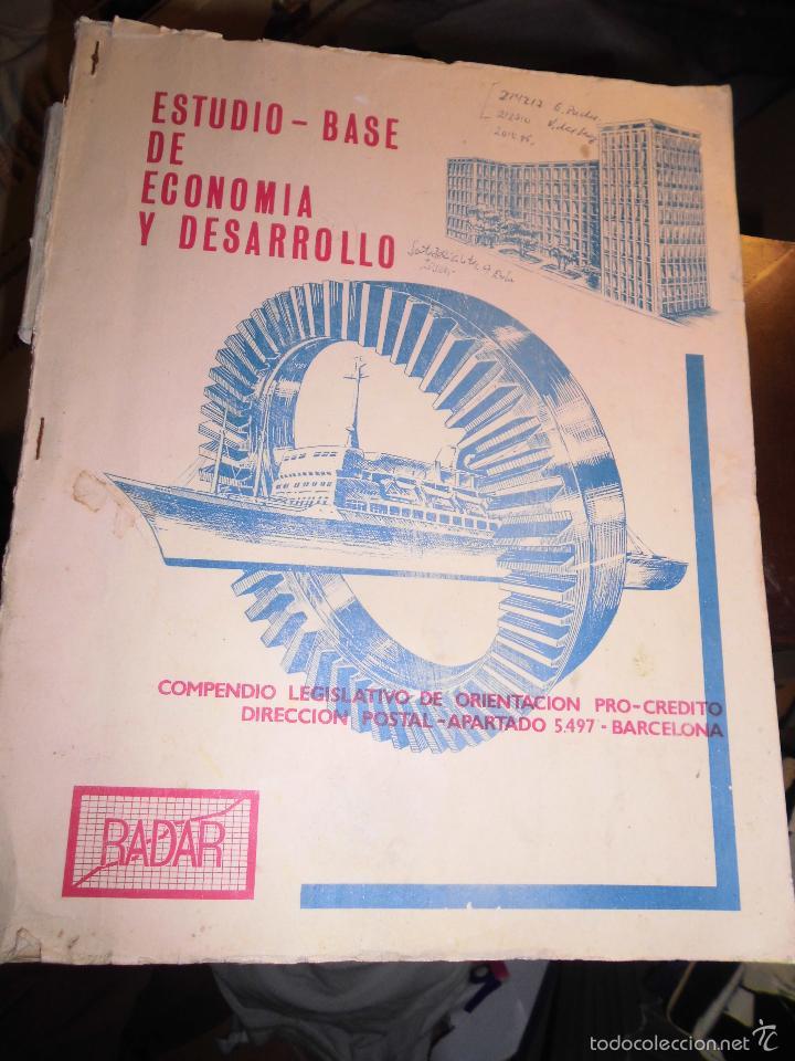 BARCELONA LIBRO ANTIGUO BADAR ESTUDIO BASE ECONOMIA DESARROLLO .40 PAGINAS (Libros Antiguos, Raros y Curiosos - Ciencias, Manuales y Oficios - Otros)