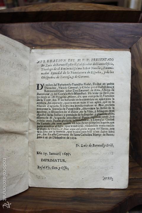 Libros antiguos: EL PEREGRINO ATLANTE. S. FRANCISCO XAVIER APOSTOL DEL ORIENTE... FRANCISCO DE LA TORRE. 1731. - Foto 3 - 57615107
