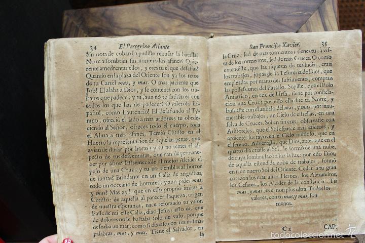 Libros antiguos: EL PEREGRINO ATLANTE. S. FRANCISCO XAVIER APOSTOL DEL ORIENTE... FRANCISCO DE LA TORRE. 1731. - Foto 6 - 57615107