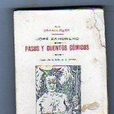 Libros antiguos: BIBLIOTECA MIGNON. XLIV. JOSÉ ZAHONERO. PASOS Y CUENTOS CÓMICOS. ILUSTR SRTA BRIME. MADRID.. Lote 57627384