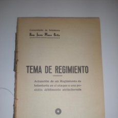 Libros antiguos: TEMA DE REGIMIENTO. COMANDANTE DON JUAN PLAZA. Lote 57636644