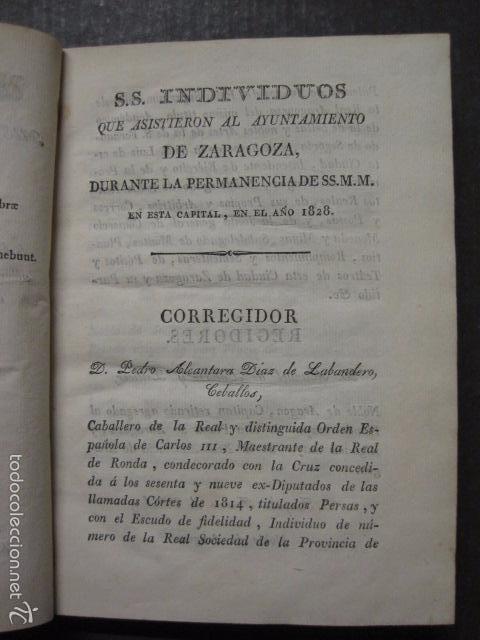 Libros antiguos: MANIFIESTO DE ZARAGOZA-IMPRENTA MARIANO MIEDES- ZARAGOZA 1828 - ORIGINAL-VER GRABADO -(XL-16) - Foto 4 - 57643668
