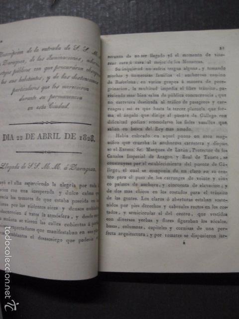 Libros antiguos: MANIFIESTO DE ZARAGOZA-IMPRENTA MARIANO MIEDES- ZARAGOZA 1828 - ORIGINAL-VER GRABADO -(XL-16) - Foto 6 - 57643668