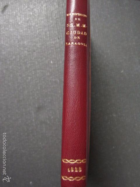 Libros antiguos: MANIFIESTO DE ZARAGOZA-IMPRENTA MARIANO MIEDES- ZARAGOZA 1828 - ORIGINAL-VER GRABADO -(XL-16) - Foto 14 - 57643668