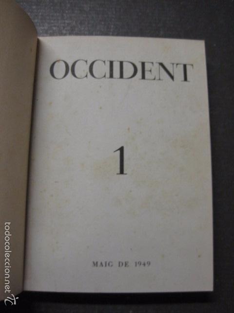 OCCIDENT - REVISTA CATALANA EN EL EXILIO-MAIG 1940 A MAIG 1950-DIBUJO DE DALI -VER FOTOS -(XL-20) (Libros Antiguos, Raros y Curiosos - Literatura - Otros)