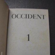 Libros antiguos: OCCIDENT - REVISTA CATALANA EN EL EXILIO-MAIG 1940 A MAIG 1950-DIBUJO DE DALI -VER FOTOS -(XL-20). Lote 57654974