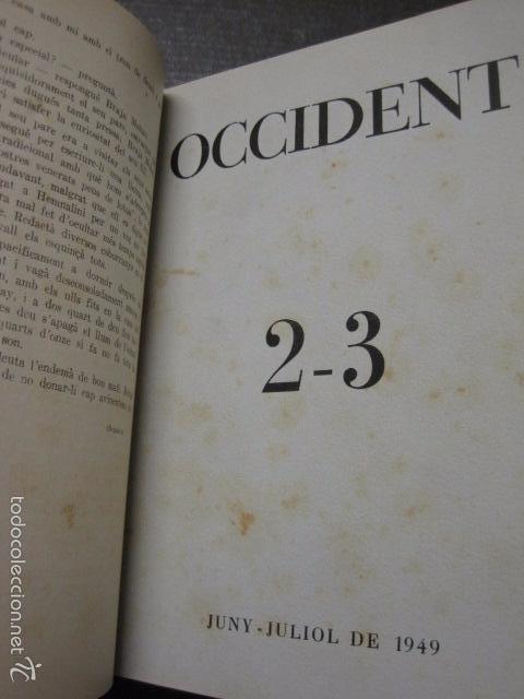 Libros antiguos: OCCIDENT - REVISTA CATALANA EN EL EXILIO-MAIG 1940 A MAIG 1950-DIBUJO DE DALI -VER FOTOS -(XL-20) - Foto 3 - 57654974