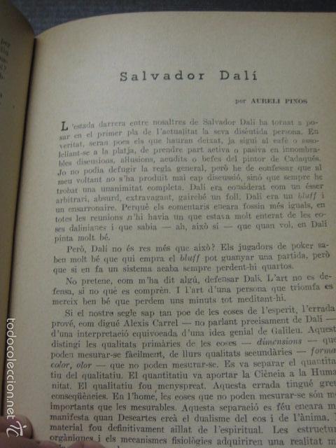Libros antiguos: OCCIDENT - REVISTA CATALANA EN EL EXILIO-MAIG 1940 A MAIG 1950-DIBUJO DE DALI -VER FOTOS -(XL-20) - Foto 5 - 57654974