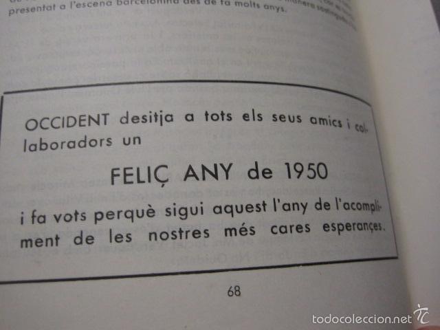 Libros antiguos: OCCIDENT - REVISTA CATALANA EN EL EXILIO-MAIG 1940 A MAIG 1950-DIBUJO DE DALI -VER FOTOS -(XL-20) - Foto 10 - 57654974