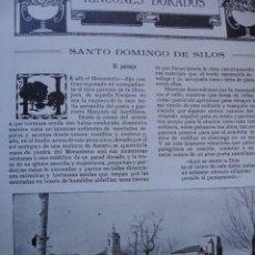 Libros antiguos: SANTO DOMINGO DE SILOS VIRGILIO SEVILLANO 3 PG.AÑO 1914. Lote 57657237