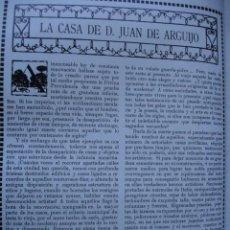 Libros antiguos: LA CASA DE JUAN DE ARQUIJO J GESTOSO Y PEREZ 17 PG.AÑO 1914. Lote 57660207