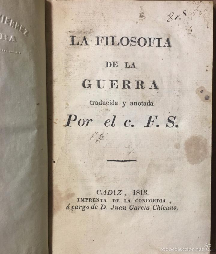 Libros antiguos: HENRY LLOYD - La Filosofía de la Guerra - Cádiz - 1813 - Principies The Art of War - 1ª Ed. española - Foto 2 - 57677028