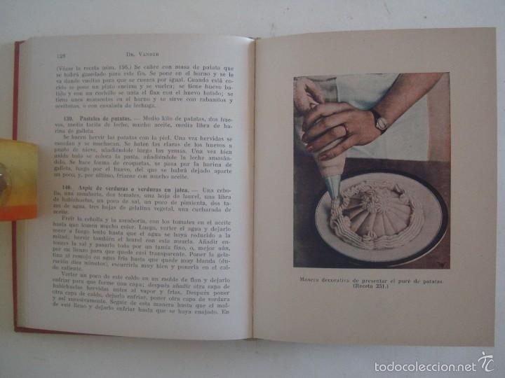 Libros antiguos: VANDER. COCINA VEGETARIANA RACIONAL. ENSEÑANZAS DE ALIMENTACION.1937.400 RECETAS. - Foto 6 - 57700510