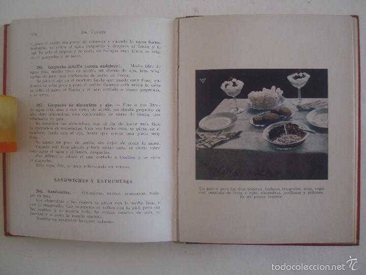 Libros antiguos: VANDER. COCINA VEGETARIANA RACIONAL. ENSEÑANZAS DE ALIMENTACION.1937.400 RECETAS. - Foto 7 - 57700510