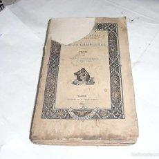 Libros antiguos: COLECCION ESCRITORES CASTELLANOS, LOPEZ DE AYALA,OBRAS COMPLETAS, TEATRO IV,1884. Lote 57718648