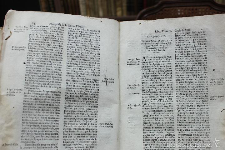 Libros antiguos: HISTORIA DE LA CONQUISTA DE MEXICO, POBLACION Y PROGRESOS... ANTONIO DE SOLÍS. 1735. - Foto 5 - 57725015