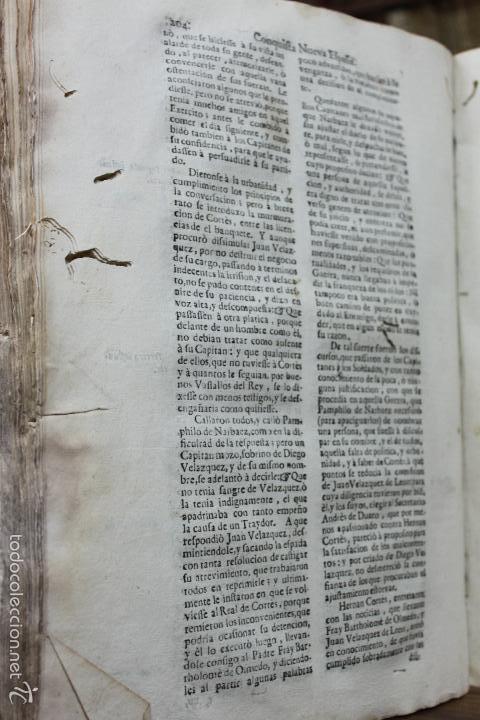 Libros antiguos: HISTORIA DE LA CONQUISTA DE MEXICO, POBLACION Y PROGRESOS... ANTONIO DE SOLÍS. 1735. - Foto 6 - 57725015