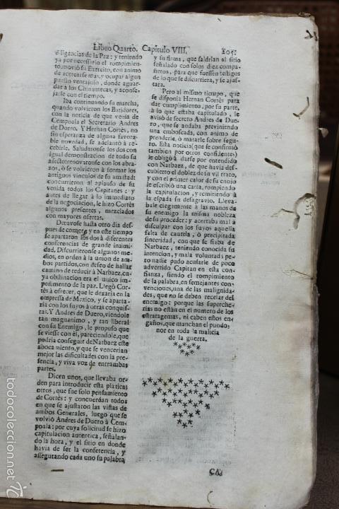Libros antiguos: HISTORIA DE LA CONQUISTA DE MEXICO, POBLACION Y PROGRESOS... ANTONIO DE SOLÍS. 1735. - Foto 7 - 57725015